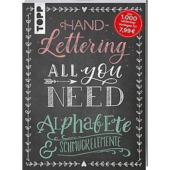 Buch 'Handlettering All You Need – Die schönsten Alphabete und Schmuckelemente'