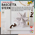 """Folia Faltblätter """"Bascetta-Stern"""", weiß-kupfer, 20 x 20 cm, 32 Blatt"""