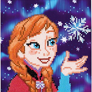 Disney Diamantstickerei-Set 'Anna', 22 x 22 cm