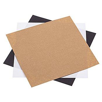 Faltblätter, schwarz-weiß-natur, 20 x 20 cm, 100 Blatt