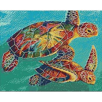 Diamantenstickerei-Set 'Schildkröten', 48 x 38 cm