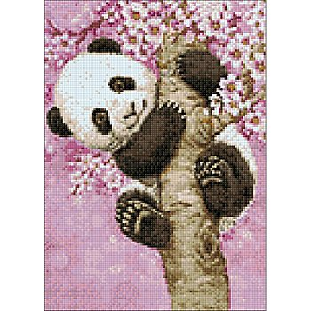 Diamantenstickerei-Set 'Panda', 27 x 38 cm