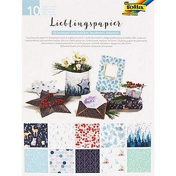 Folia Papierbuch Lieblingspapier, 10 Blatt