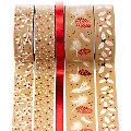 """Deko-Tape  """"Weihnachten"""", rot, 6 - 18 mm, 25 m"""