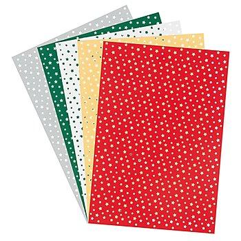 Silhouettenkarton 'Sterne', 33 x 23 cm, 5 Blatt