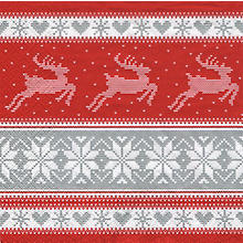 Serviettes en papier 'bordure avec rennes', 33 x 33 cm, 20 pièces