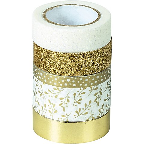 Image of Deko-Tape, gold, Breite 5 - 18 mm, Länge 2 - 6,5 m