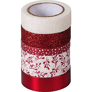 Deko-Tape, rot, Breite 6 - 18 mm, Länge 2 - 6,5 m