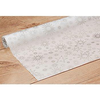 Transparentpapier 'Sterne silber', 50 x 70 cm