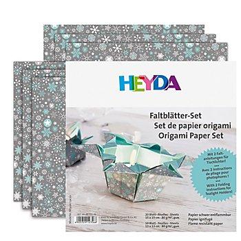Heyda Faltblätter 'Tischlichter', 20x 15 x 15 cm, 10x 13 x 13 cm