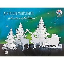 Winterliche Papierszenerie 'Santa´s Schlitten'