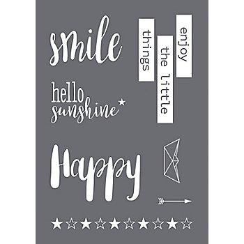 Rayher Siebdruck-Schablone 'Smile'