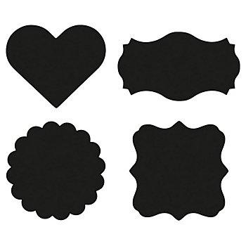 Tafelfolien-Sticker Set Herzen, Etiketten, Kreise, 24 Stück