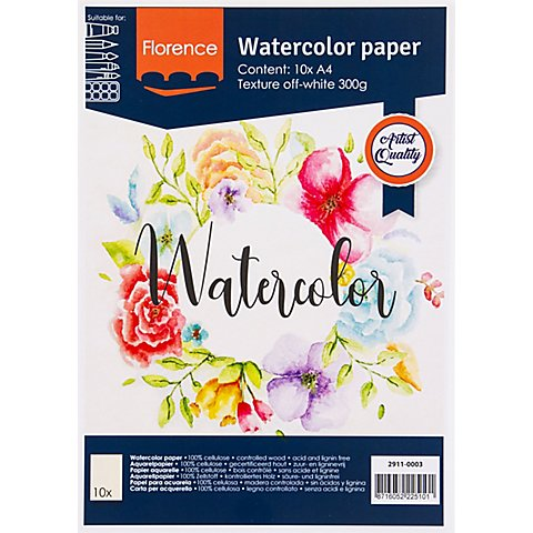 "Image of Aquarell-Papier ""Florence"", DIN A4, 300 g/m²"