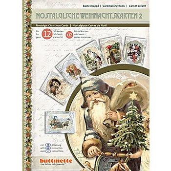 3D-Bastelmappe ' Nostalgische Weihnachtskarten', für 12 Karten