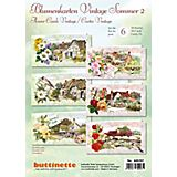 "3D-Bastelmappe ""Blumenkarten Vintage Sommer"