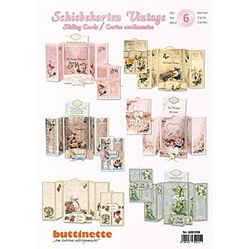 Kit créatif pour cartes coulissantes 3D 'vintage' Pour 6 cartes