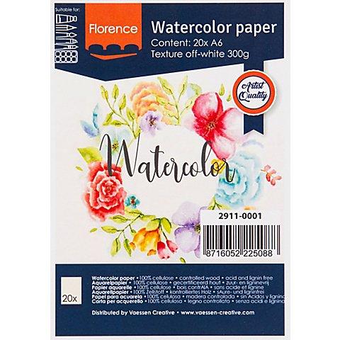 "Image of Aquarell-Papier ""Florence"", DIN A6, 300 g/m²"