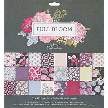 Scrapbooking-Papier 'Full Bloom', 30,5 x 30,5 cm, 50 Blatt