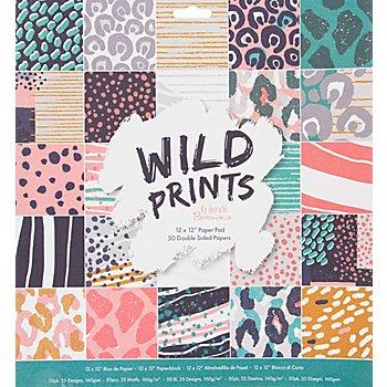 Scrapbooking-Papier 'Wild Prints', 30,5 x 30,5 cm, 50 Blatt