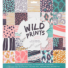 Bloc de papier scrapbooking 'Wild Prints'