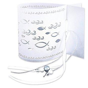 Ursus Silhouetten Tischlicht-Set Kommunion & Konfirmation, weiss, 5 Stück