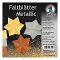 """Ursus Papier origami """"étoiles métalliques"""", 14 x 14 cm, 100 feuilles"""