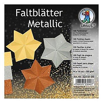 Ursus Faltblätter 'Metallic-Stern', 14 x 14 cm, 100 Blatt