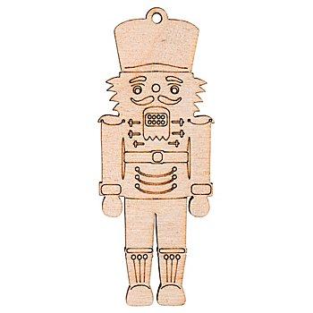 Holzmotive Nussknacker, flach, 3 x 8 cm, 4 Stück