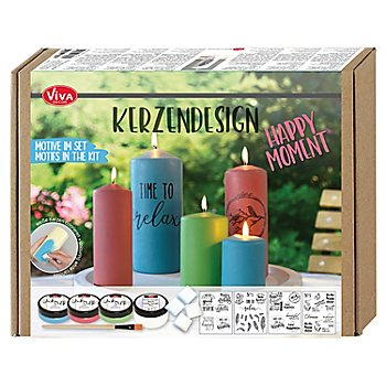 Kerzendesign Set 'Happy Moments'