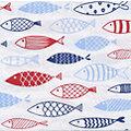 """Serviettes en papier """"poissons"""", 33 x 33 cm, 20 pièces"""