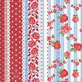 """Serviettes en papier """"Bordure de roses"""", 33 x 33 cm, 20 pièces"""