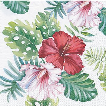 Papierservietten 'Hibiskusblüte', 33 x 33 cm, 20 Stück