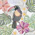 """Serviettes en papier """"toucan"""", 33 x 33 cm, 20 pièces"""