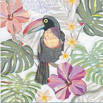 Serviettes en papier 'toucan', 33 x 33 cm, 20 pièces
