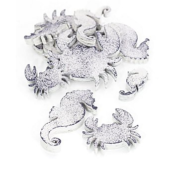 Streuteile 'Seepferd und Krabbe', 4–7 cm, 12 Stück
