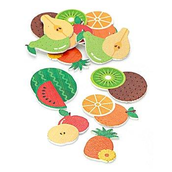 Motifs déco 'tropical', 3 cm, 12 pièces