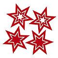 Filz-Sterne, rot, 11,5 cm, 4 Stück
