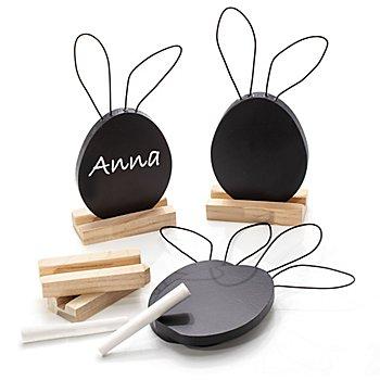 Tableaux 'lapins' avec support, 4 pièces