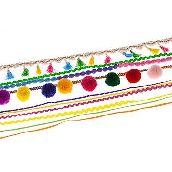 Set de rubans 'formes & couleurs différentes', 3 - 45 mm, 5x 2 m