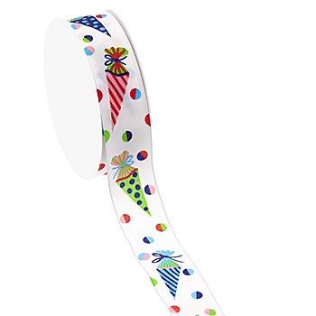 Schultütenband mit Drahtkante, 25 mm, 5 m
