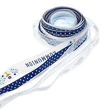 Set de rubans 'communion', bleu clair/blanc, 10-15 mm, 5x 2 m