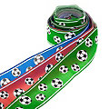 """Set de rubans """"football"""", vert/rouge/bleu, 40 mm, 3x 2 m"""