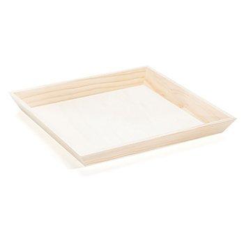 Tablett aus Holz, 30 x 30 cm