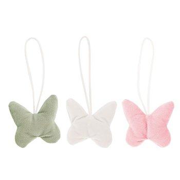 Samt-Anhänger 'Schmetterling', 6 cm, 3 Stück