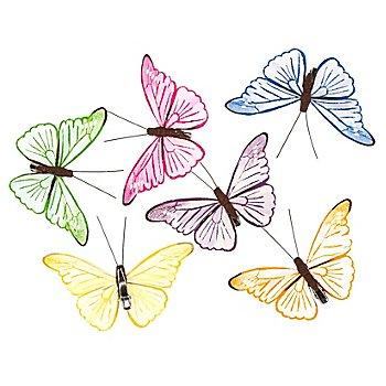Schmetterlinge aus Papier, 9,5 x 6 cm, 6 Stück