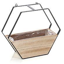 Cache-pot en bois à suspendre, 26,5 x 10,5 x 23 cm