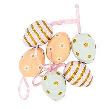 Kunststoff-Eier 'Pastell', 4 cm, 6 Stück