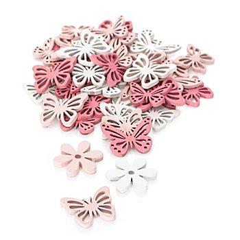 Streuteile 'Schmetterling und Blume', 2,5–3 cm, 36 Stück