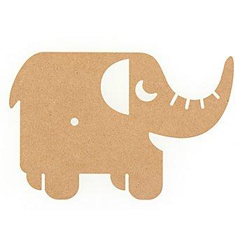 MDF-Uhr 'Elefant'